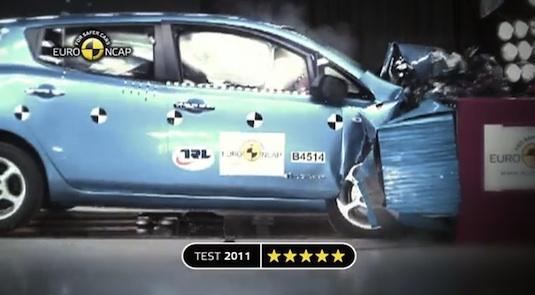 elektromobil crash test nissan leaf