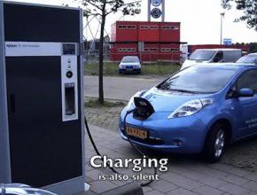 elektromobil Nissan Leaf rychlodobíjení