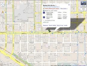 Google Maps městská hromadná doprava