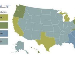 mapa dostupnost plug-in hybridu Chevrolet Volt