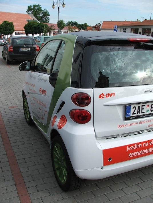 auto elektromobil smart ED test