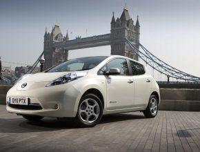 elektromobil Nissan Leaf Londýn