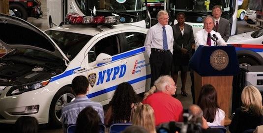 elektromobilita New York policie Chevrolet Volt Micheal Bloomberg