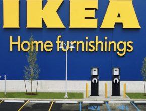 auto elektromobil IKEA dobíjecí stanice Blink ECOtality