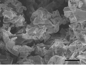 Grafenové nano struktury uvnitř elektrody - mnohasetnásobné zvětšení pomocí elektronového mikroskopu