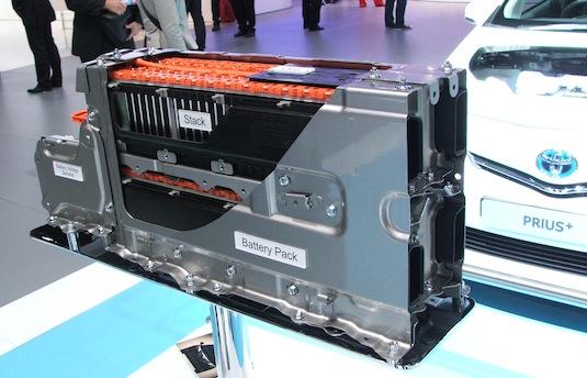 auto hybrid prius+ baterie