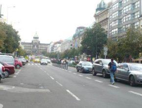 Česká republika Praha Václavské náměstí bez aut