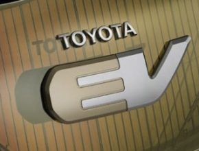 auto elektromobil Toyota EV znak