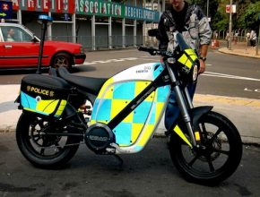 elektrická motorka Hong Kong policie Brammo
