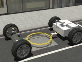 auto elektromobil B E-Cell bezdrátové indukční dobíjení