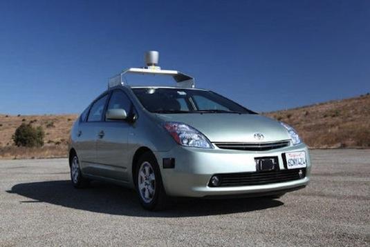 auto Google Toyota Prius robotické auto