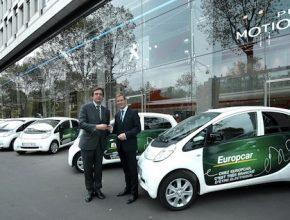auto elektromobily PSA Peugeot iOn v síti autopůjčoven Europcar