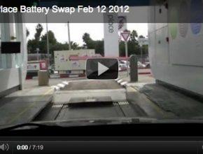 auto elektromobil stanice pro výměnu baterií video