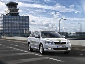 auto elektromobil Škoda Octavia Green E Line na letišti Praha Ruzyně