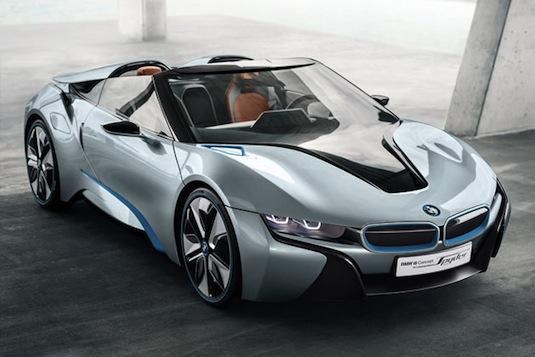 auto hybrid BMW i8 Spyder