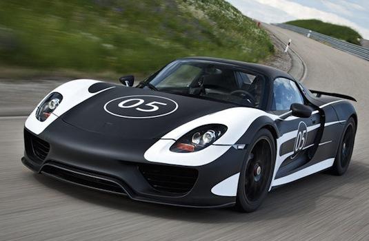 auto plug-in hybrid Porsche 918 Spyder prototyp