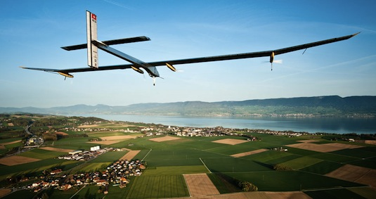 Solar Impulse solární letadlo na cestě do Maroka