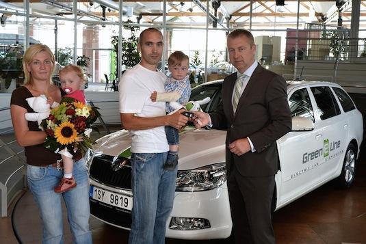 auto elektromobil Škoda Octavia Green E Line elektrické auto soukromý uživatel