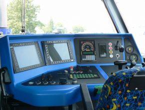 železnice Kabina strojvedoucího v lokomotivě 714.8