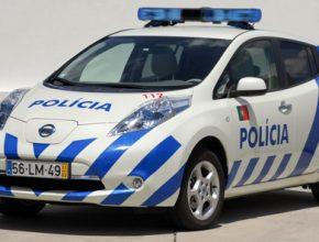 auto elektromobil Portugalsko policie elektro