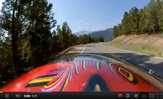 auto elektromobil Monster Tajima závodní elektromobil závody do vrchu Pikes Peak