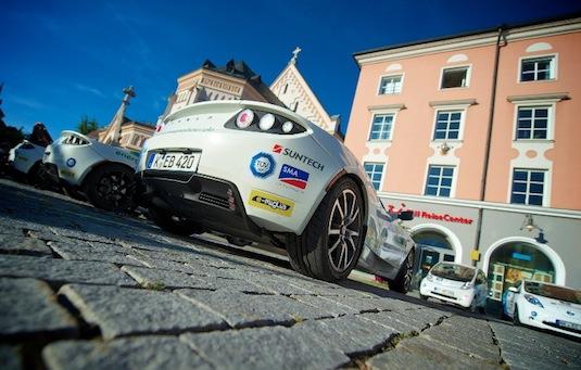 auto elektromobil e-Miglia závod elektromobilů 2012