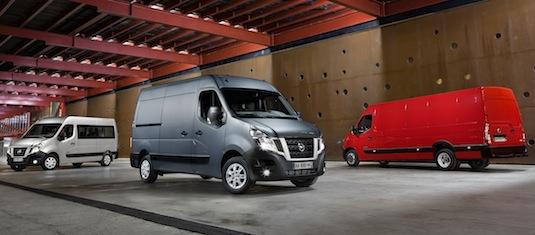 auto elektromobil Nissan NV400 nákladní elektrická dodávka