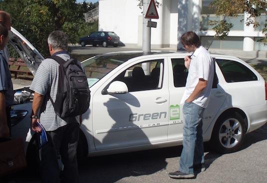 auto elektromobil Škoda Octavia Green E Line v Brně na Mezinárodním strojírenském veletrhu.
