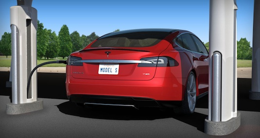 auto elektromobil Tesla Motors Supercharger síť dobíjecích stanic