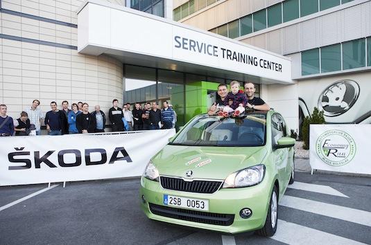 auto Škoda Citigo vítězové závodu Škoda Economy Run