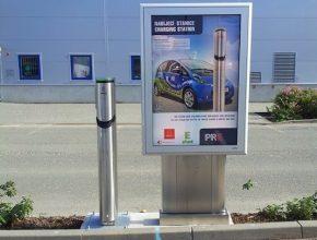 auto elektromobil dobíjecí stanice Avion Shopping Park Ostrava