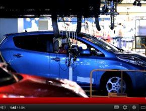 auto elektromobil Nissan začíná výrobu elektromobilu a elektromotoru Nissan Leaf v americké továrně Smyrna Tennessee