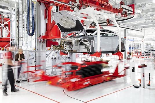 auto elektromobil Tesla Motors výroba Modelu S