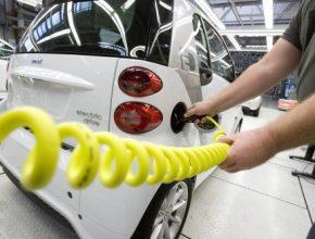 výroba elektromobilu Smart fortwo ED továrna Hambach Francie