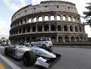 elektrická formule Formule E v římě