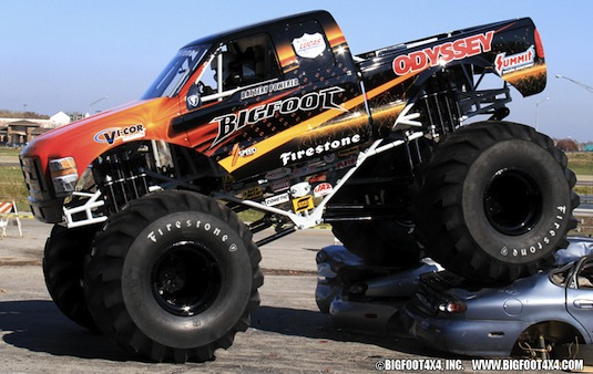 auto elektromobil Monster Truck BigFoot BF20 elektrický