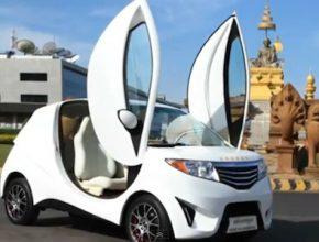 auto elektromobil Khmer Kambodža elektrické auto