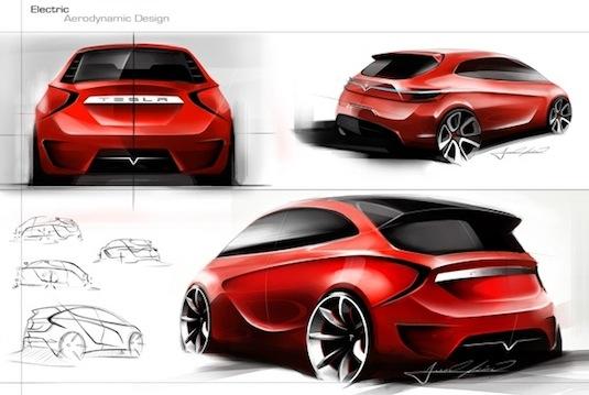 auto elektromobil Tesla Model C