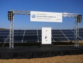 auto solární park fotovoltaická elektrárna Volkswagen Chattanooga