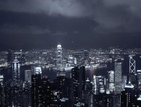 Hong Kong znečištění ovzduší mrakodrapy