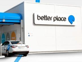 Better Place stanice pro výměnu baterií