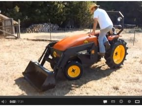 elektrický traktor elektrotraktor Steve heckeroth