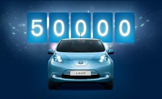 elektromobil Nissan Leaf 50 000 prodaných kusů