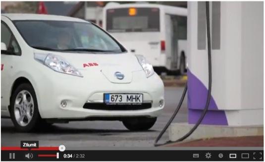 Estonsko Nissan Leaf elektromobil rychlodobíjecí stanice národní síť