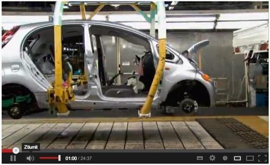 film video jak vznikal elektromobil Mitsubishi i MiEV