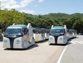 KAIST bezdrátová tramvaj v zábavním parku Soul