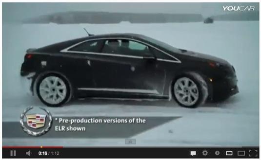 auto plug-in hybrid Cadillac ELR video test zimní