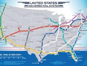 síť vysokorychlostní železnice Spojené státy americké