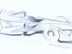 auto Dallara Formula E sampionat elektrické formule skeč