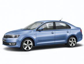 auto Škoda Rapid Blue autosalon Ženeva